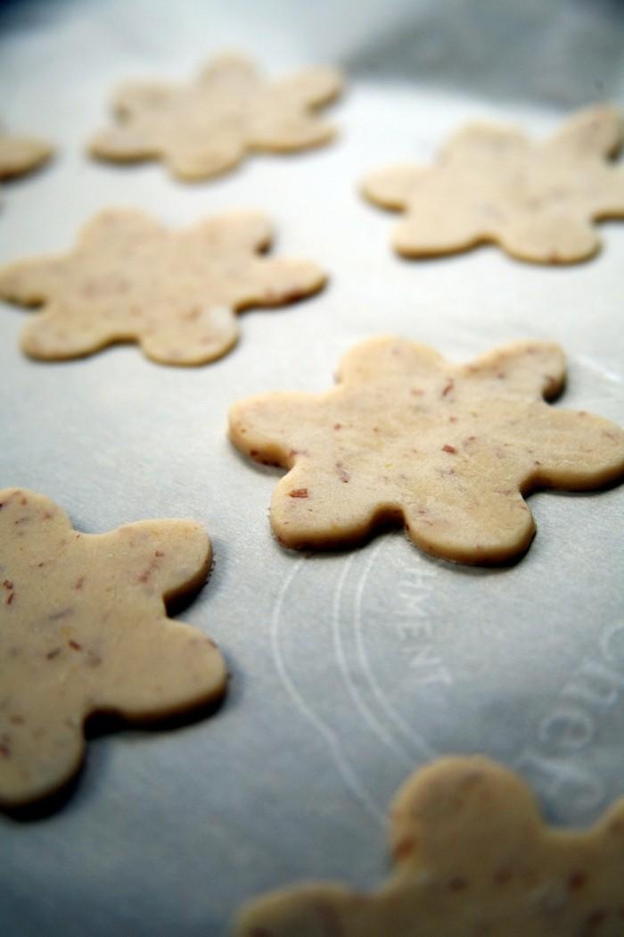 vegan backen einfache kekse blumen