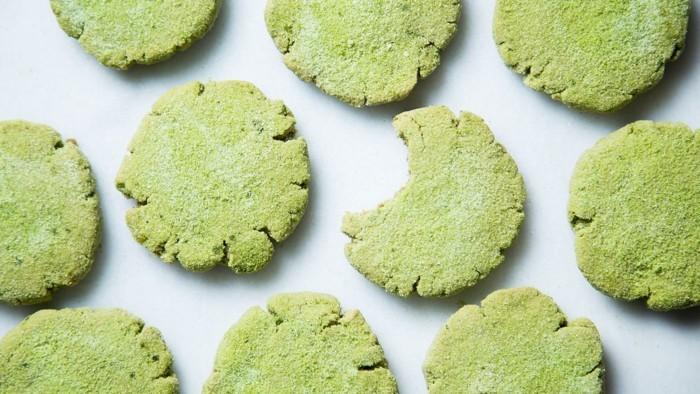 vegan backen einfache kekse matcha ingwer