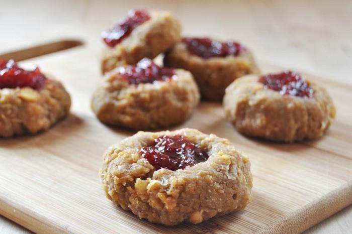 vegan backen einfache kekse mit marmelade mitte