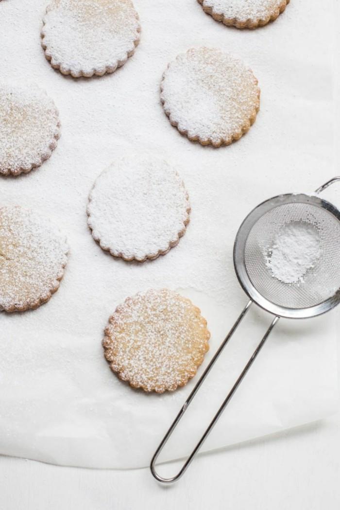 vegan backen einfache kekse rund