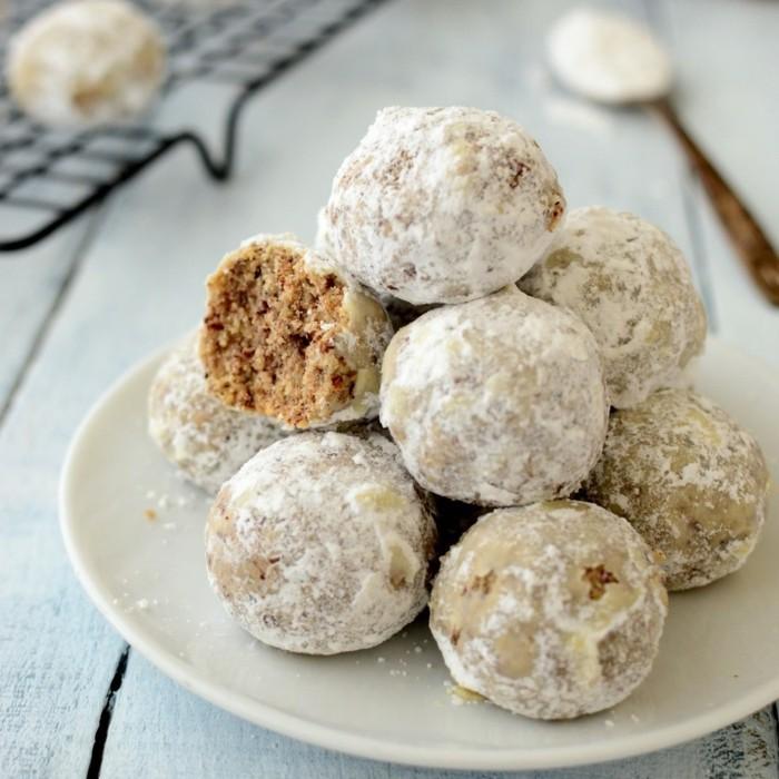 vegan backen einfache kekse schneebaelle