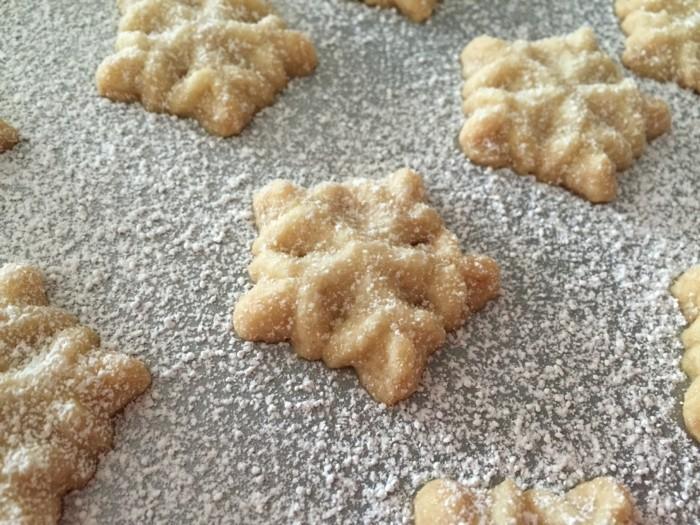 vegan backen einfache kekse schneeflocken