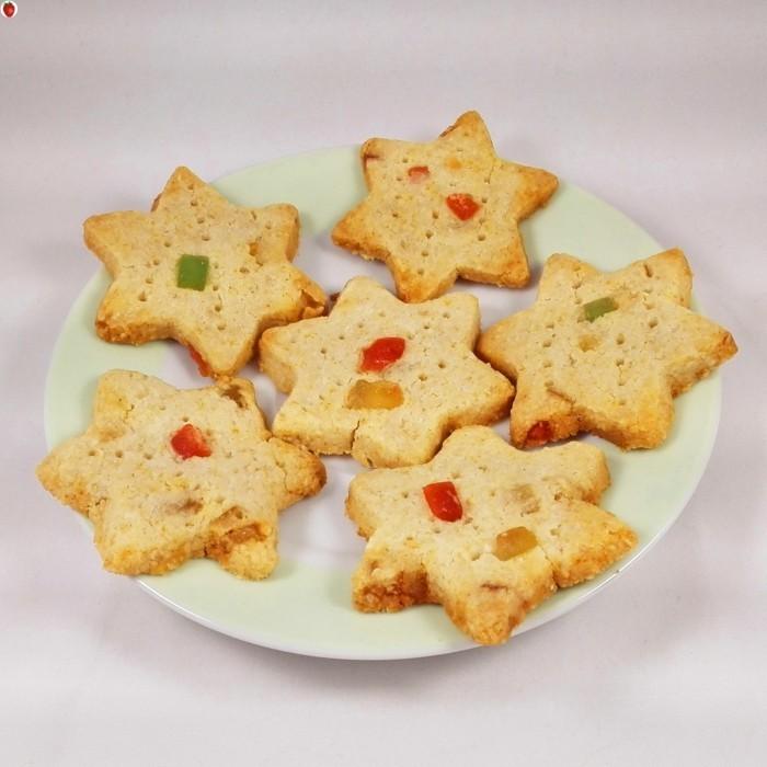 vegan backen einfache kekse sterne getrocknete fruechte