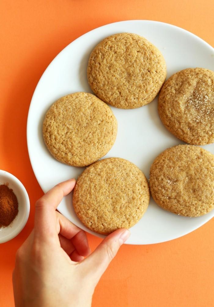 vegan backen einfache kekse taler