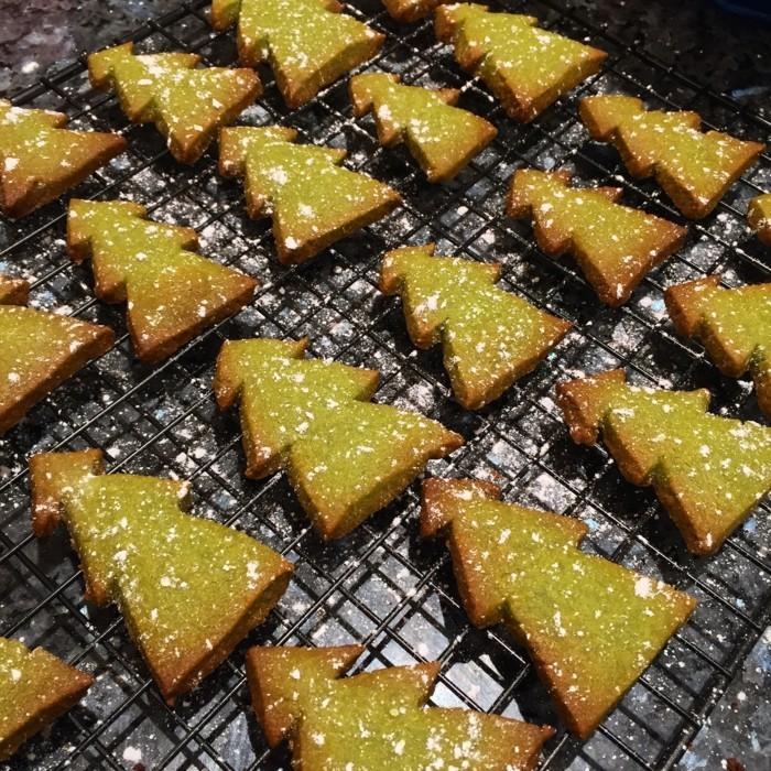 vegan backen einfache kekse tannenbaum