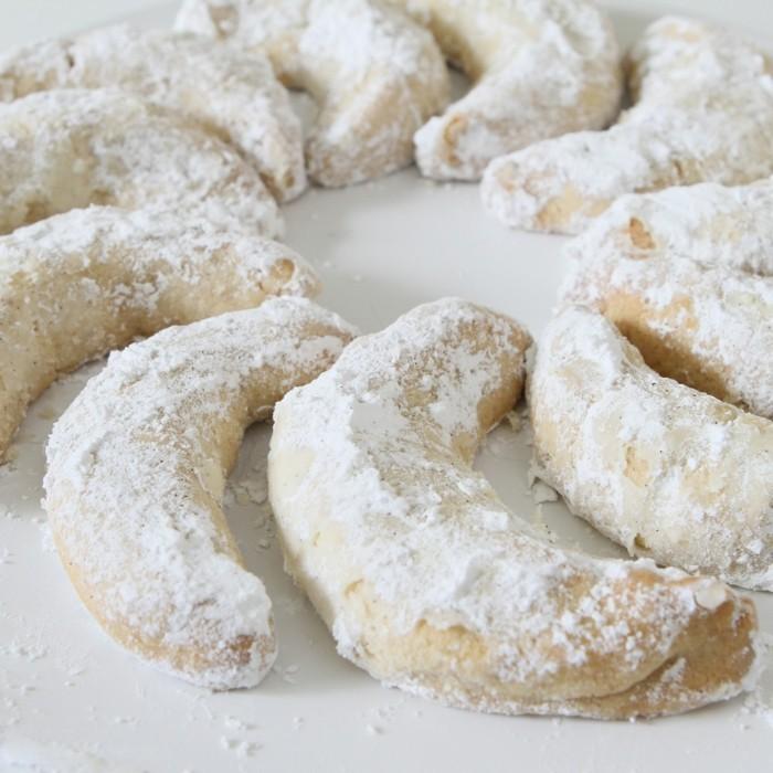 vegane plätzchen vanillekipferl puderzucker ohne eiern zu weihnachten backen