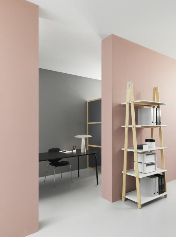 wandfarbe apricot office wandgestaltung ideen wohltuhend