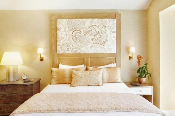 wandfarbe apricot schlafzimmer luxuriöses wanddesign - Копие