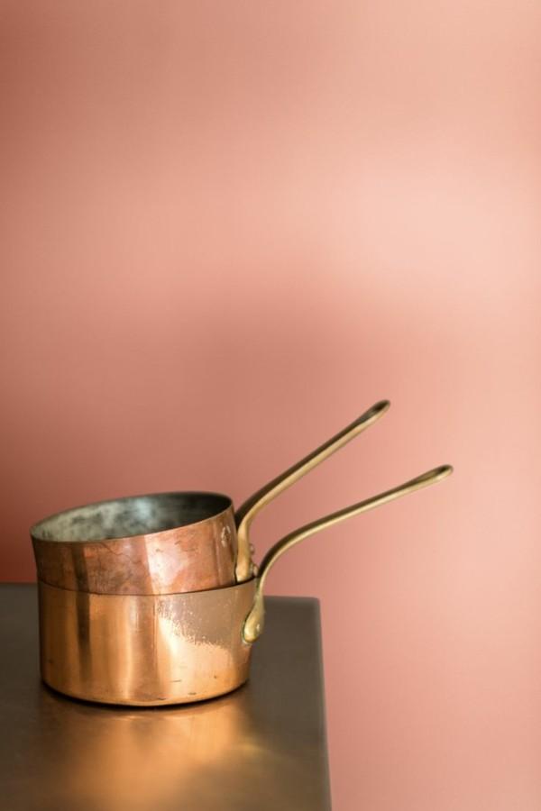 wandfarbe apricot wandgestaltung küche frische ideen