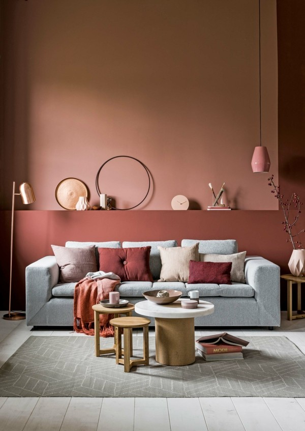 Wandfarbe apricot der frische trend bei der for Pastellfarben wandfarbe