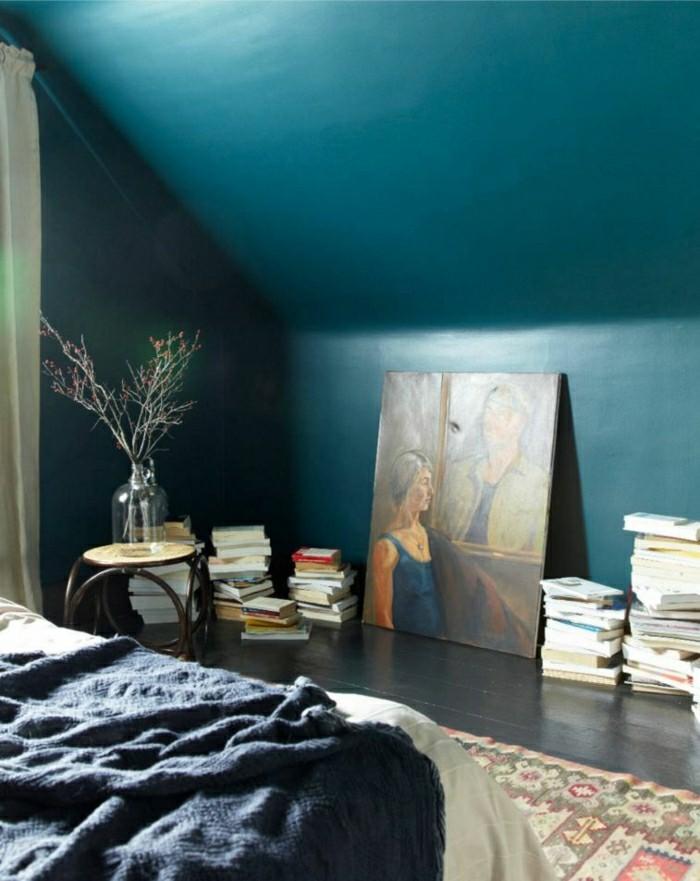 Wandfarbe petrol 56 ideen f r mehr farbe im interieur - Welche farbe passt ins schlafzimmer ...