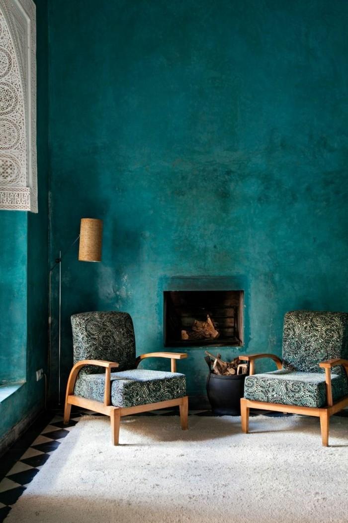 Wandfarbe Petrol - 56 Ideen für mehr Farbe im Interieur
