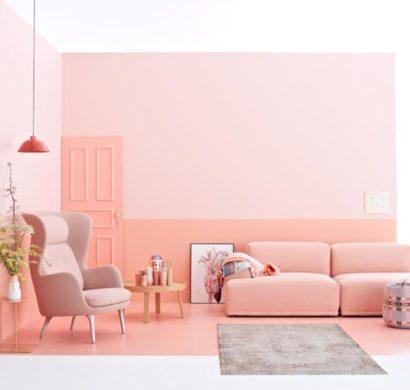 Wandfarbe Apricot U2013 Der Frische Trend Bei Der Wandgestaltung In 40  Beispielen