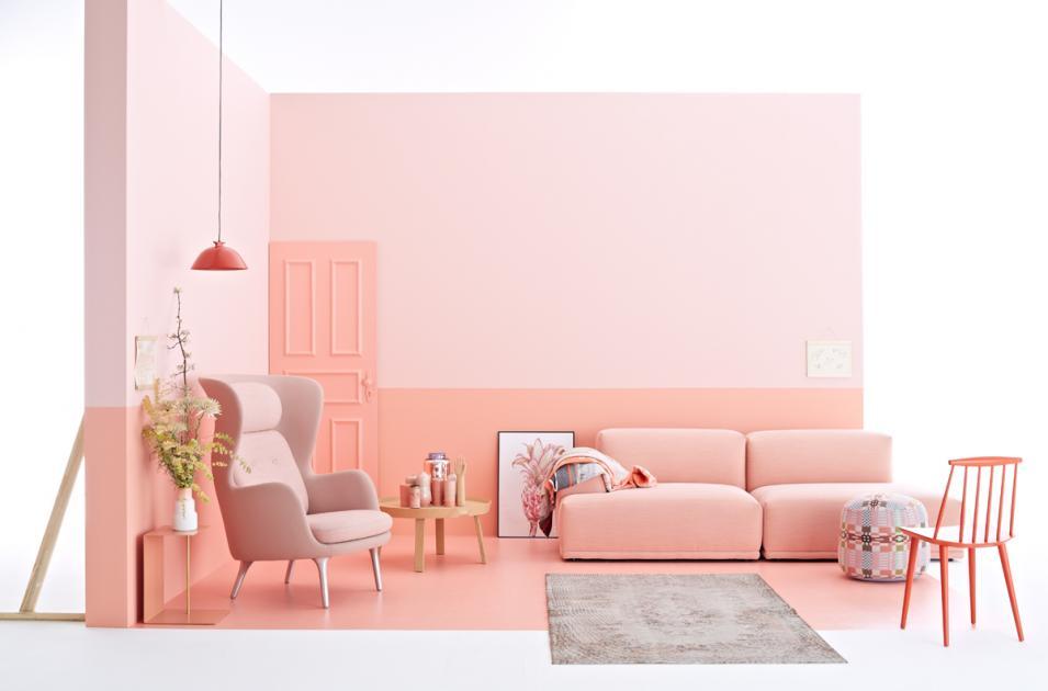 wandfarben ideen wohnzimmer aprikosenfarbe farbkombinationen