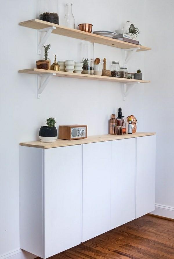 weiß und braun küchenschränke