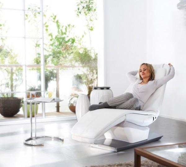 weißer relax stuhl elegant