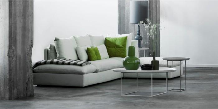 weißes sofa designkalssiker