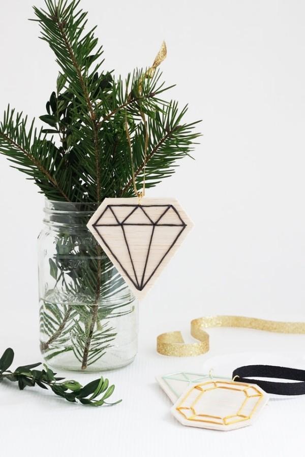 weihnachten ideen vase mit tannenbaumzweig