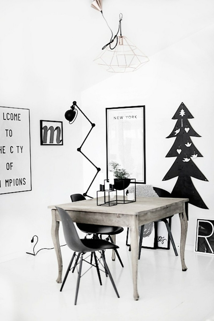 weihnachten schwarz weiss grafisch jung