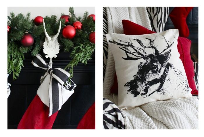 weihnachten schwarz weiss grafisch
