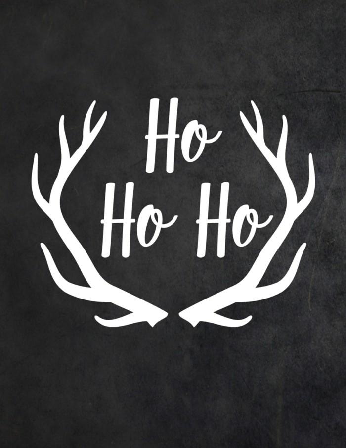 weihnachten schwarz weiss kreidetafel