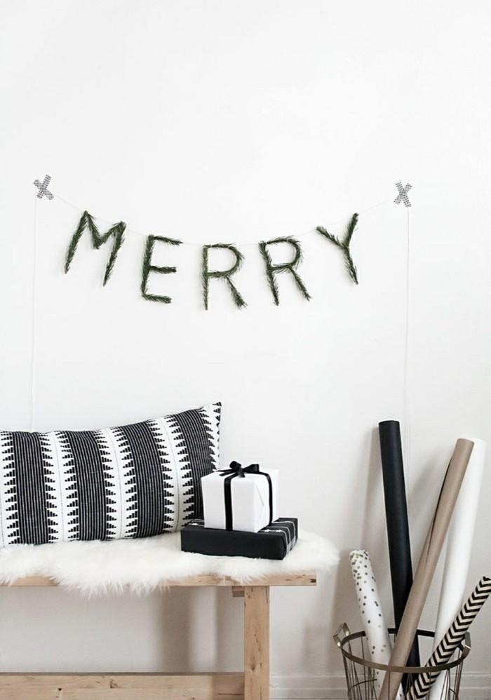 weihnachten schwarz weiss minimal