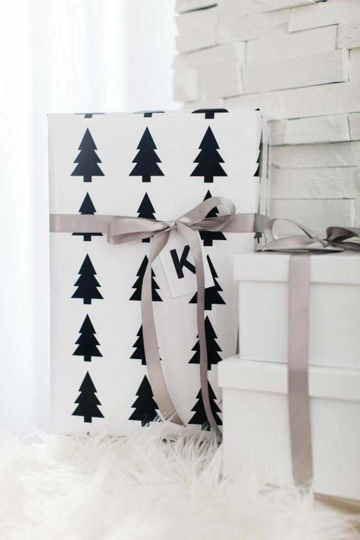 weihnachten schwarz weiss weihnachtsschmuck geschnekpapier