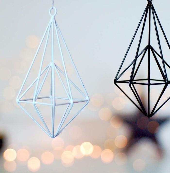 weihnachten schwarz weiss weisser leuchtstern ornaments