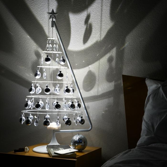 weihnachten schwarz weiss windlicht basteln tannenbaum