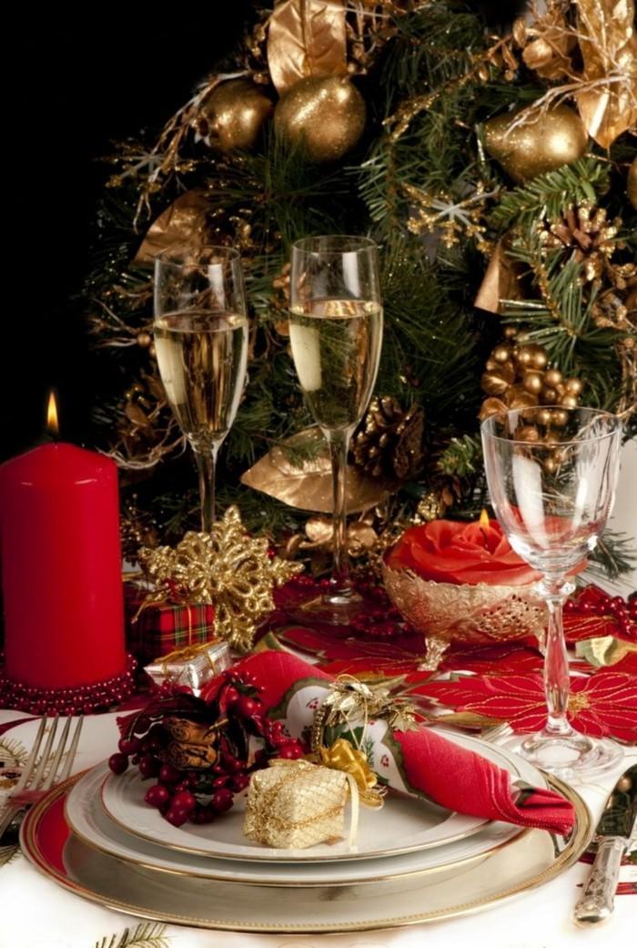 weihnachten tischsets und tischdekoration