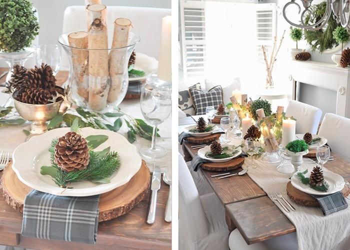 Weihnachtliche tischdeko 60 ausgefallene tischdeko ideen zu weihnachten - Tischdeko ideen weihnachten ...
