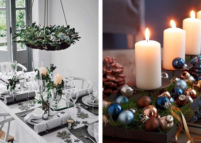 weihnachtliche tischdeko kerzen kerzenhalter verzieren
