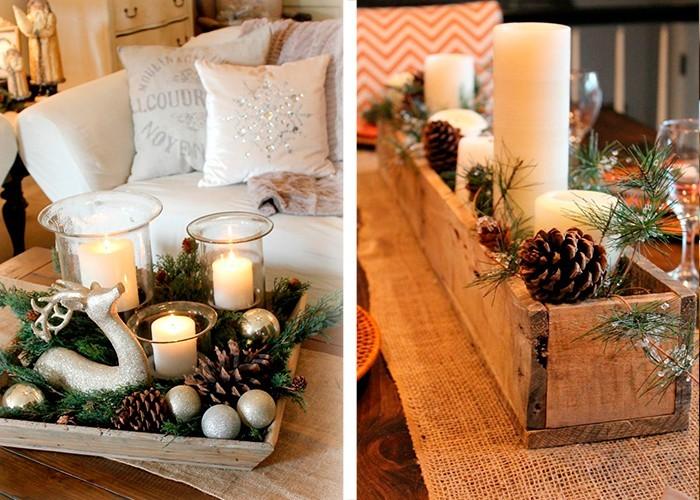 weihnachtliche tischdeko landhausstil kerzen