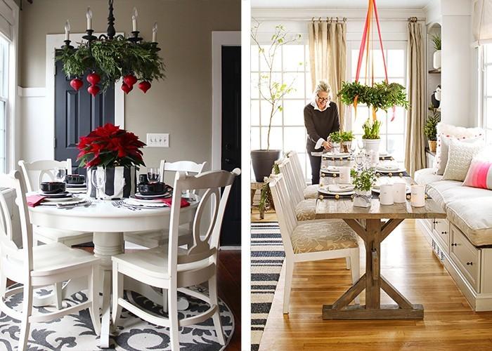 esstisch weihnachtlich dekorieren home ideen. Black Bedroom Furniture Sets. Home Design Ideas