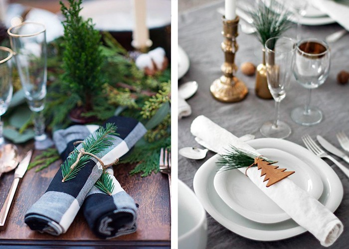 weihnachtliche tischdeko tannenbaum stilvolle tischdeko