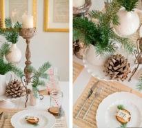 Weihnachtliche Tischdeko – 60 ausgefallene Tischdeko Ideen zu Weihnachten