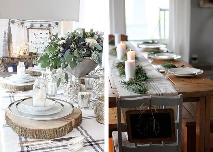weihnachtliche tischdeko 60 ausgefallene tischdeko ideen. Black Bedroom Furniture Sets. Home Design Ideas