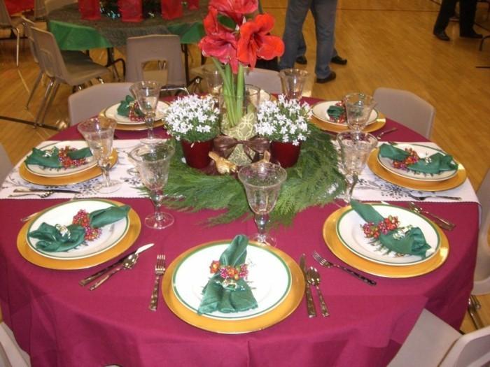 weihnachtliche tischsets grüne zweige