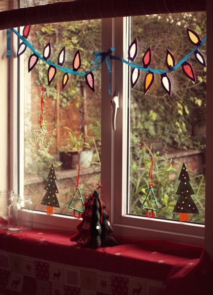 weihnachtsdeko fenster dekogirlande dekoartikel