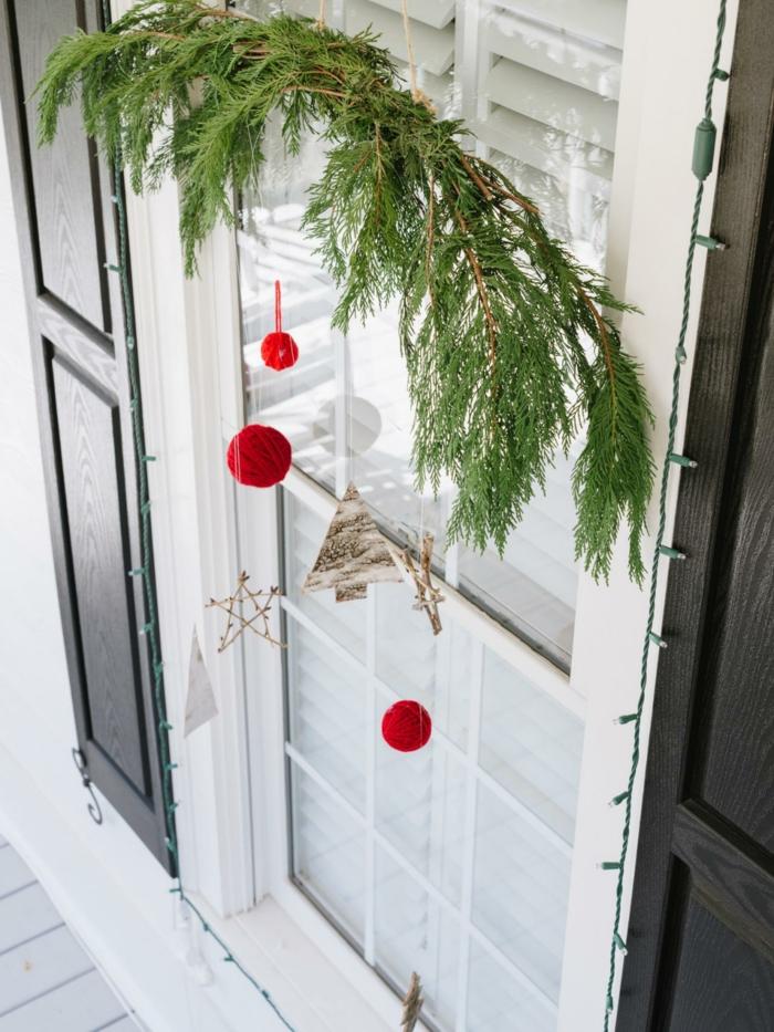 weihnachtsdeko fenster elegante hängedeko kreative dekoideen