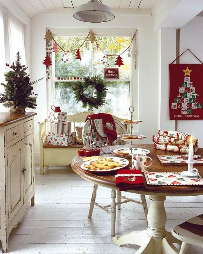 weihnachtsdeko fenster weihnachtskranz dekogirlanden