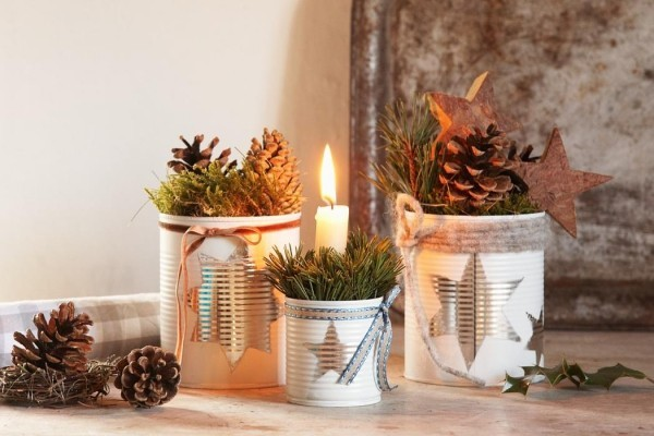 Weihnachtsdeko selber basteln kleiner aufwand gro e - Weihnachtsdeko naturmaterialien ...