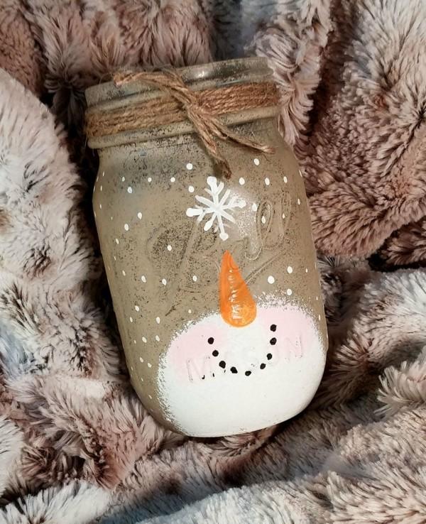 weihnachtsdeko selber machen kerzen gießen ball mason