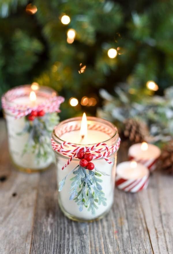 weihnachtsdeko selber machen kerzen gießen