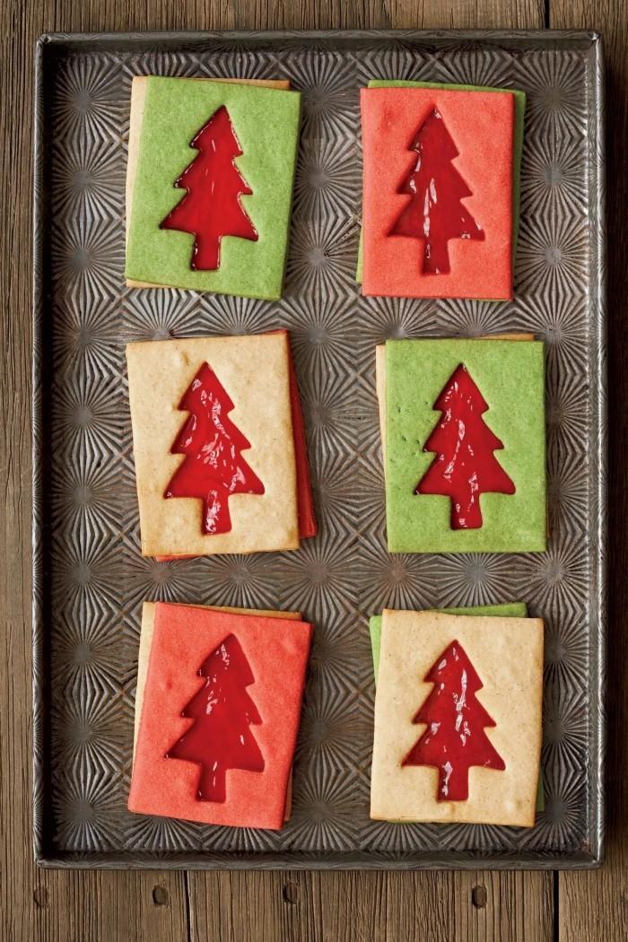 weihnachtsdessert christbaum motiv kekse backen