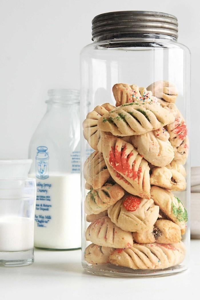 weihnachtsdessert ideen im glas kekse backen