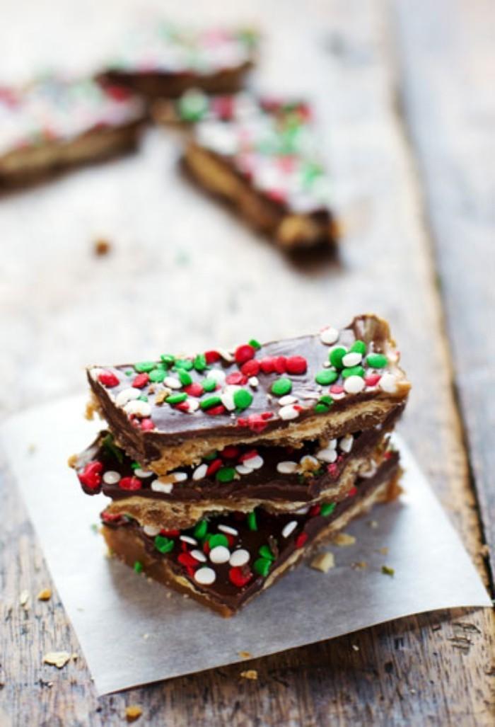weihnachtsdessert kuchen backen rezept schokolade zuckerflocken