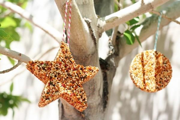 weihnachtsschmuck sammen kokosfett meisenknödel selber machen