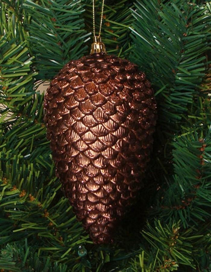 weihnachtsschmuck basteln mit naturmaterialien gef'rbte tannenzapfen