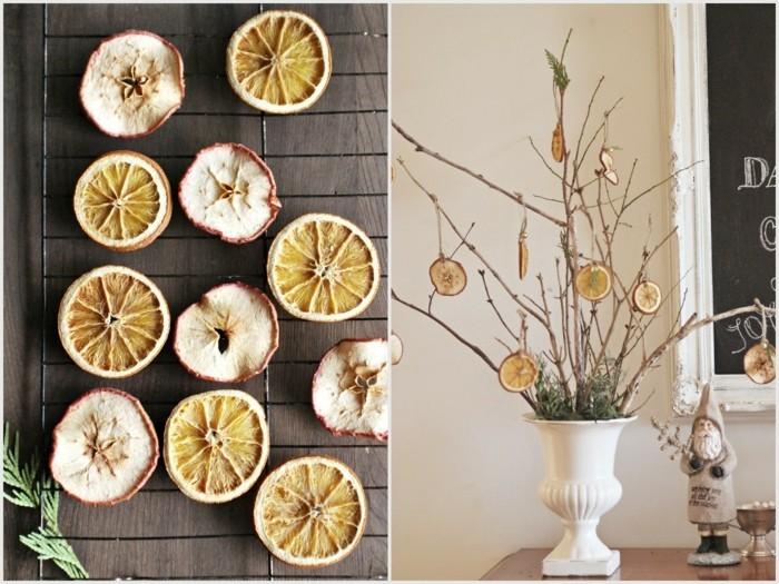 weihnachtsschmuckbasteln mit naturmaterialien orange mit zimt weihnachtsdekoration